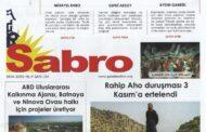Sabro Gazetesi, Ekim 2020, Sayı 104
