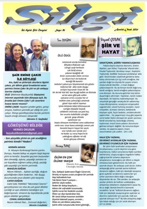 Silgi Dergisi, Sayı 81
