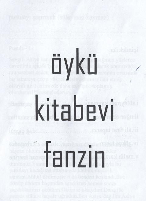 Öykü Kitabevi Fanzin