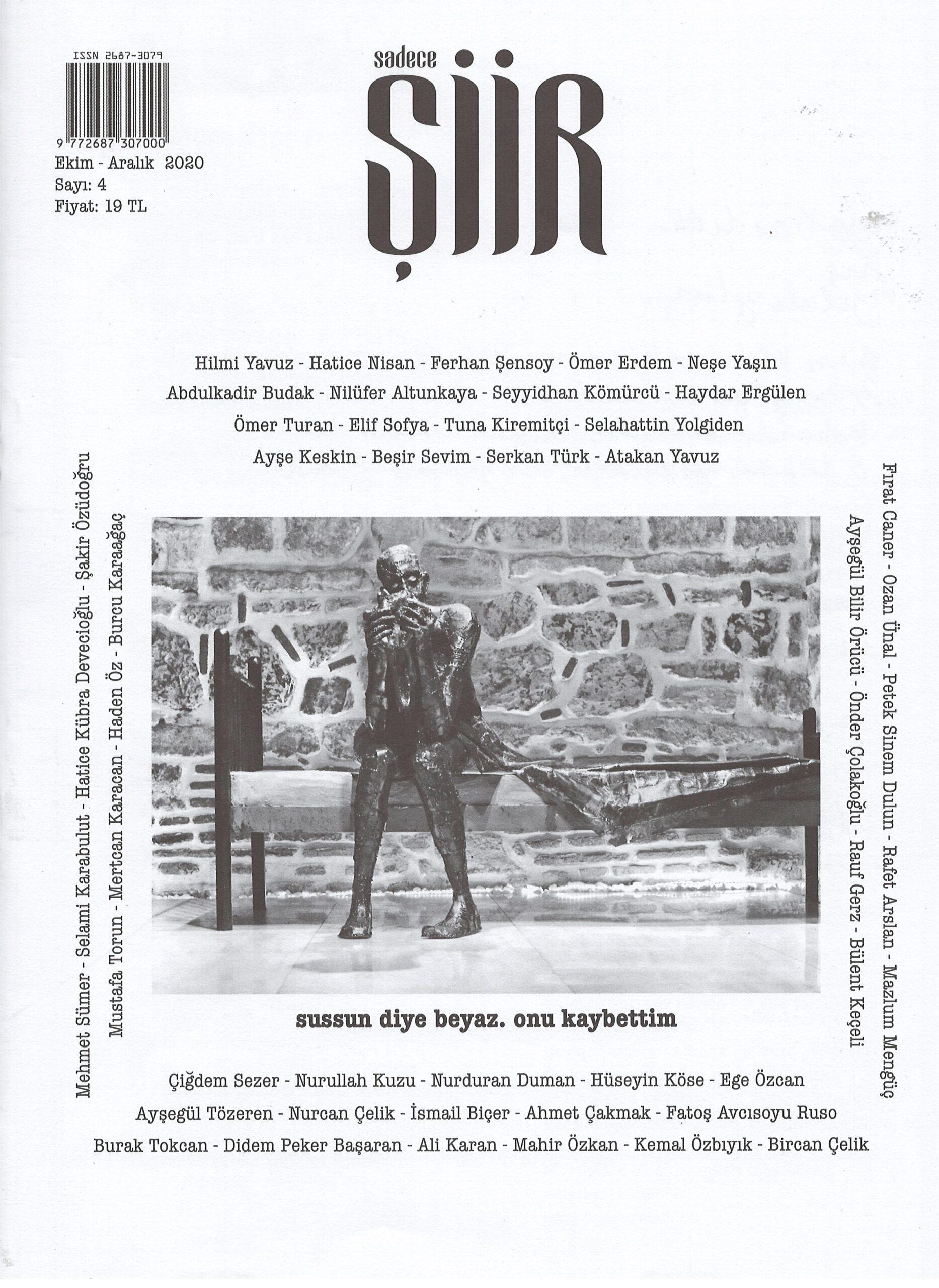 Sadece Şiir Dergisi, Sayı 4, Ekim Aralık 2020