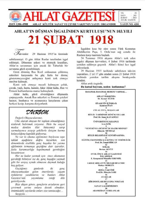 AHLAT GAZETESİ, Sayı 243