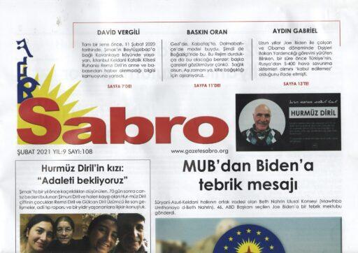 Sabro Gazetesi, Şubat 2021, Sayı 108