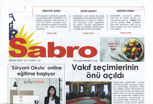 Sabro Gazetesi, Nisan 2021, Sayı 110