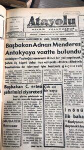 Seyahat(name)lerdeki Antakya – 18, Adnan Menderes